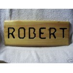 Handmade Pine Wood Name Sign Plaque