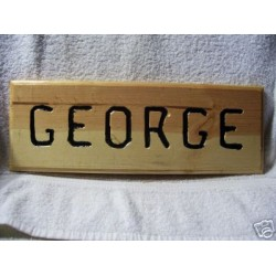 Hand Crafted Pine Wood Name sign / Plaque