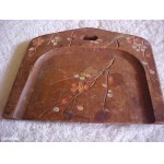 Old / Antique ? Small Wooden Crumb Tray Primitively Made & Painted