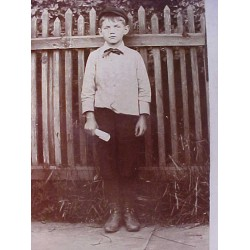 ANTIQUE ~OLD~ PHOTO BOY ~ Boring Graduation? 1900's