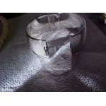 Wide Band BRACELET Gorgeous Retro Hard Mesh Sivlertone