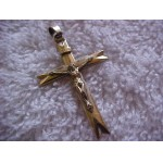 Antique Signed ~AMERIKANER~ A*D Curcifix/Cross Pendant