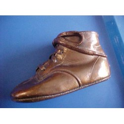 Antique Old Bronze Baby Shoe Bootie ADORABLE!