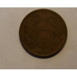 Two-Cents  Piece 2 Cents Coin 1866