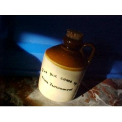 "Brown Jug Small Stoneware ""Oi've just come up from ZUMMERZET"""