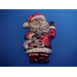 Old HONG KONG Hard Plastic Santa Pin Brooch