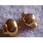 MONET ~ Signed ~ Golden Lantern Clip on Earrings Vintage/Retro