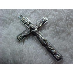Old Italian Crucifix Cross Pendant Nice Detail