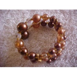 Vintage Stretch Bracelet ~ Glass Beads & Natural Color Beads