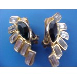 Vintage Rhinestone Clip-on Earrings SALE .99¢