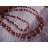 Vintage RED & WHITE Beaded LONG Flapper Type Necklace