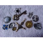 Vintage LOT of 11 Pendants Various Age, Shapes & Sizes
