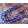 Vintage/Retro Cobalt Blue Oblong Glass Bead Necklace SALE .99¢