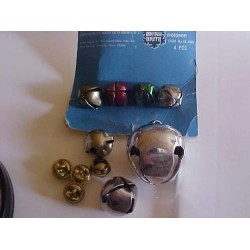 Lot of 11 Vintage/Retro Craft Metal Bells Various size & Age. SALE .99¢