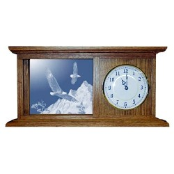 The Promise Eagle Art Etched Mirror Mantle Clock