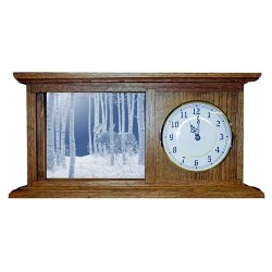 On the Move Moose Art Etched Mirror Mantle Clock