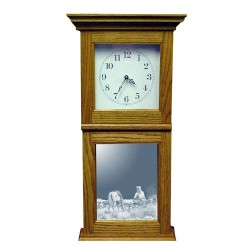 Dreamer's Hour Western Art Etched Mirror Wall or Mantle Clock