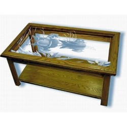 On Golden Pond Duck Art Etched Rectangular Coffee Table