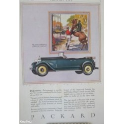 Vintage Print, PACKARD CONVERTIBLE, Car Advertisement, 1926
