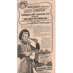 Annie Oakley - Gail Davis - 1954 Canada Dry Advertisement Cowgirl 50s Television
